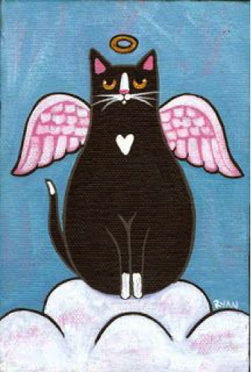 drawing of Kitty Love, our first Guardian Angel
